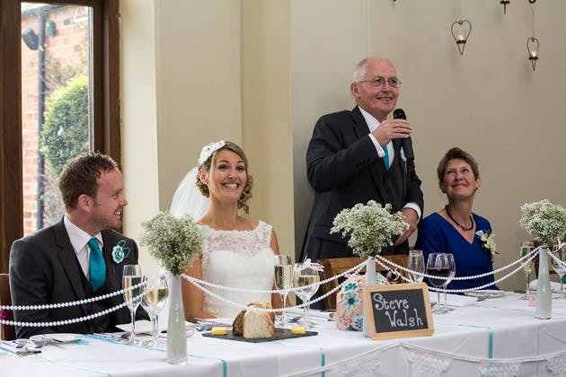 Father of the Bride's Speech at Claire and Conal's Real Wedding | Confetti.co.uk