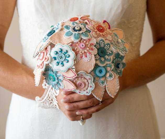 Wedding Bouquet Made by the Bride