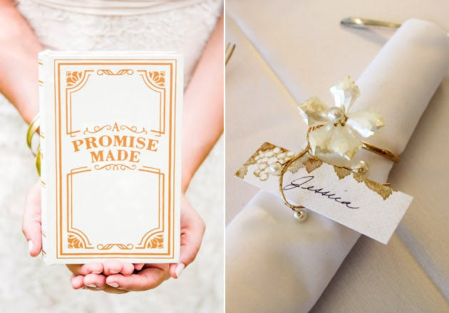 """Promise Made"" Vintage Style Jewellery Box Decorative Floral Napkin Ring"