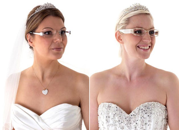 Brides with glasses