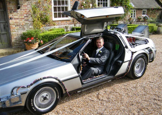 Delorean Wedding Car