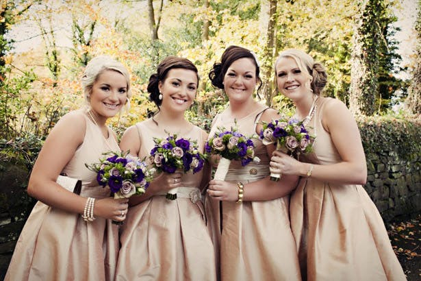 Bridesmaid's in vintage pink