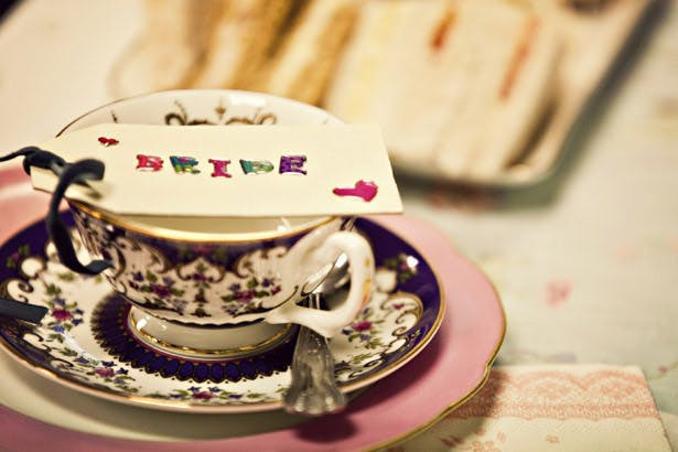 Vintage inspired wedding tea party