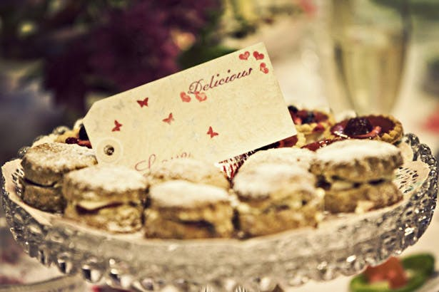 Wedding tea party desserts