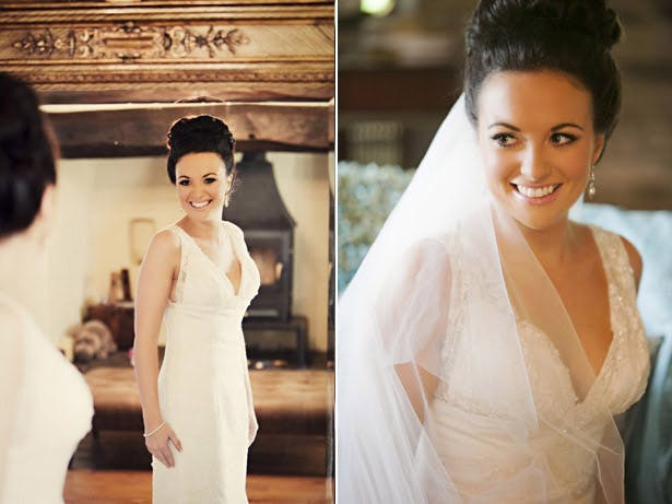 Bride in Charlotte Balbier dress