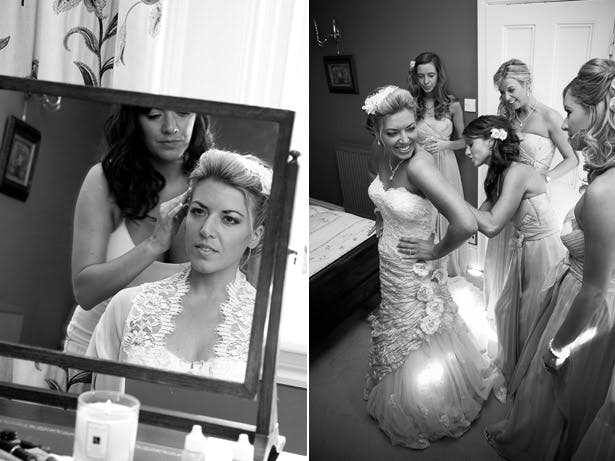 Bride Getting Ready Monochrome Photography