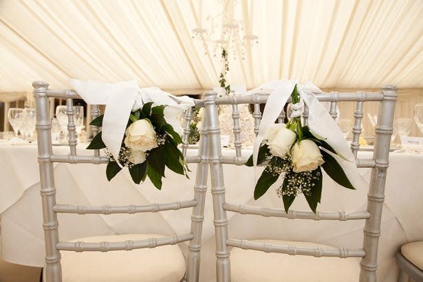 Top Table Rose Chair Decorations
