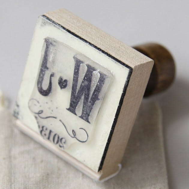 Rustic themed vineyard rubber stamp
