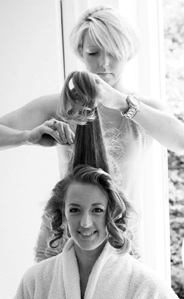 beautiful bridal hair curls