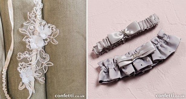 Wedding garters from the Confetti shop
