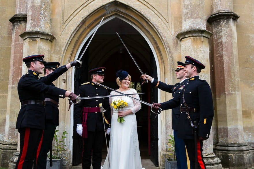 Military wedding ceremony by Helen King Photography | Confetti.co.uk