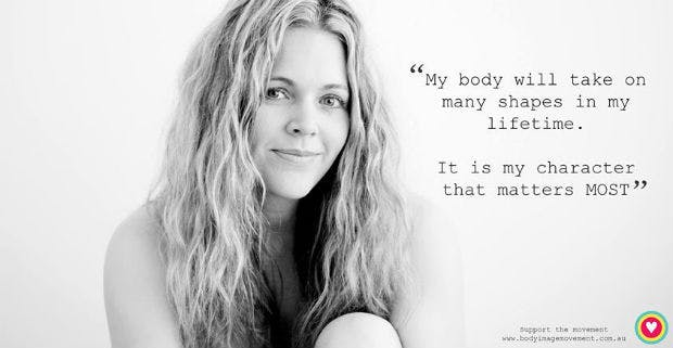 A quote on good body image