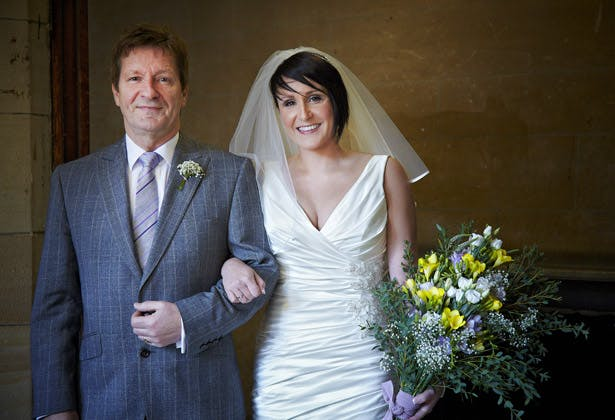 wedding day bride father of the bride