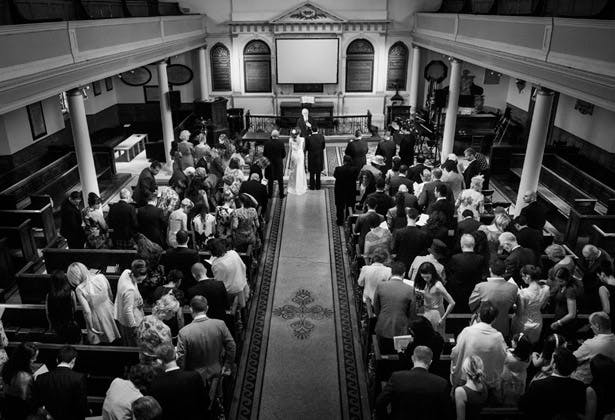 wedding ceremony st james church