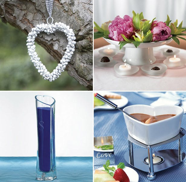 heart themed valentines day flowers and gift moodboard