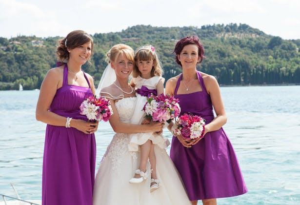 Bride with her bridesmaids 2