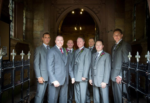 Groom with his groomsmen