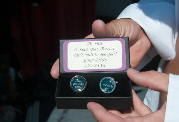 Personalised cufflinks for the groom