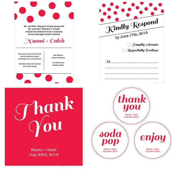 Candy Colourful wedding stationery