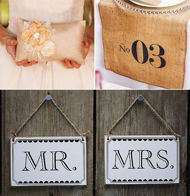 Rustic Shabby Chic Mr and Mrs