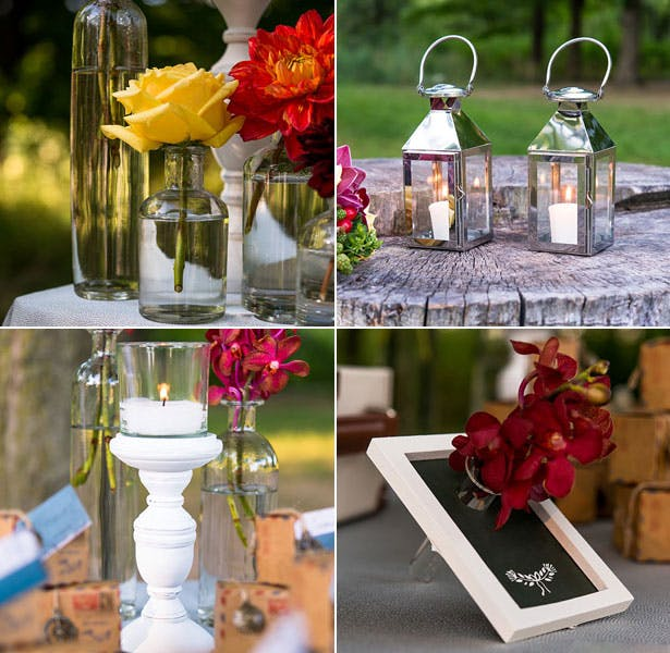 Travel inspired wedding decorations