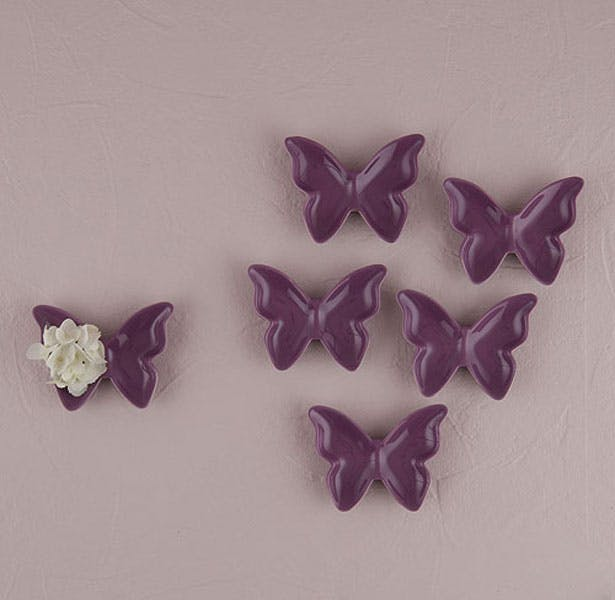 Purple butterfly favour dish