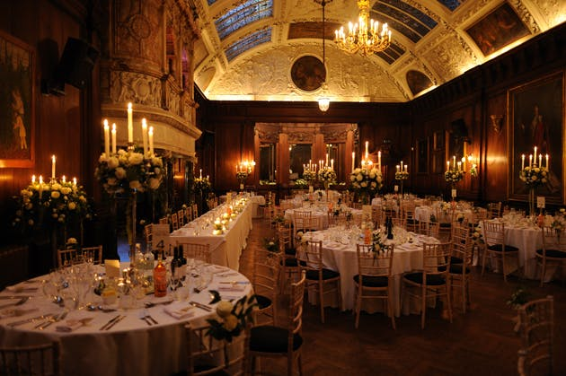 Candlelight venue with table decorations