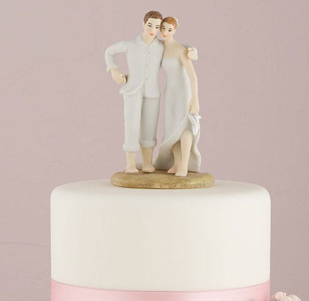 Beach Bride and Groom Cake Topper