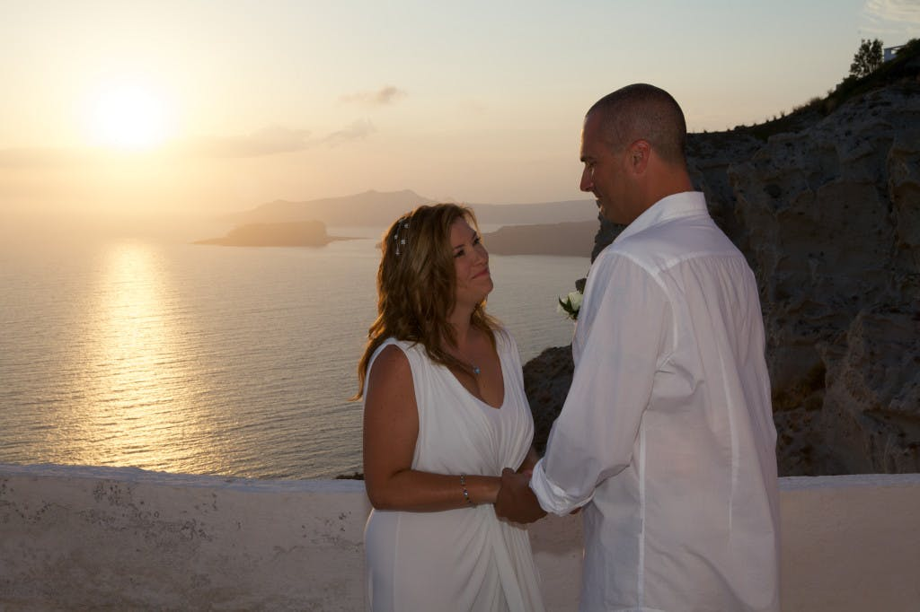 Marryme in Greece Santorini Wedding Couple