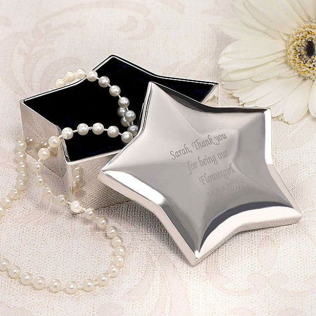 Personalised star trinket box favour