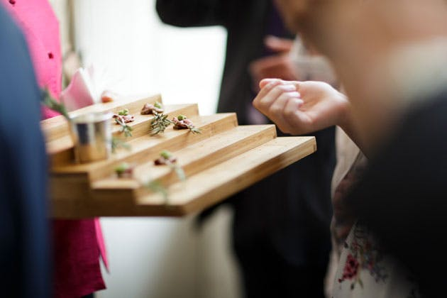 Canapés after the ceremony