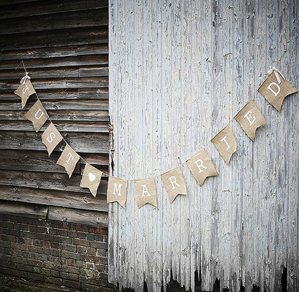 A Vintage Affair Just Married Bunting