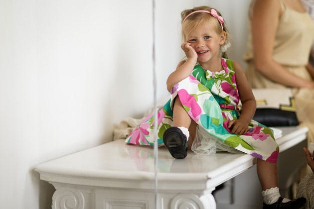 Younger wedding guest by Douglas Fry Photography