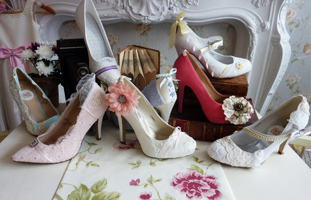 alternative vintage bridal shoes by Lace and Love