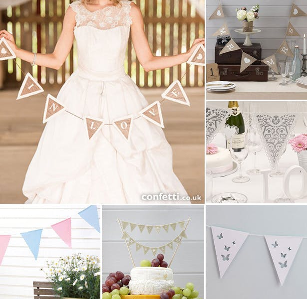 Retro and vintage wedding bunting