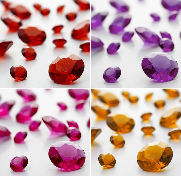 Coloured Table Gems