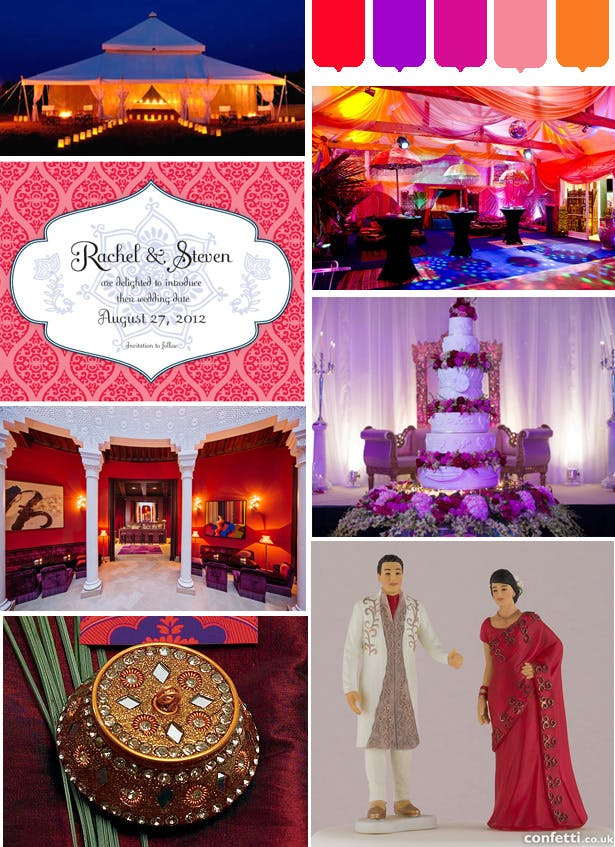Moroccan wedding mood board, confetti.co.uk