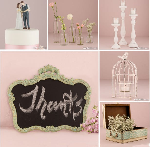 Rustic themed wedding accessories