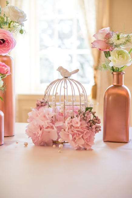 Pastel Pink Wedding Reception Decor | Confetti.co.uk