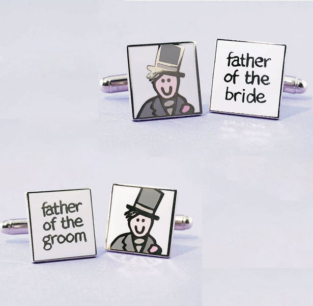 Father of the bride and groom wedding  cufflinks