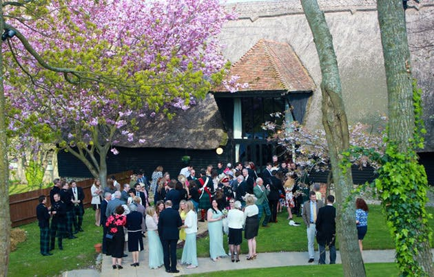 Wedding reception at the Thatched barn