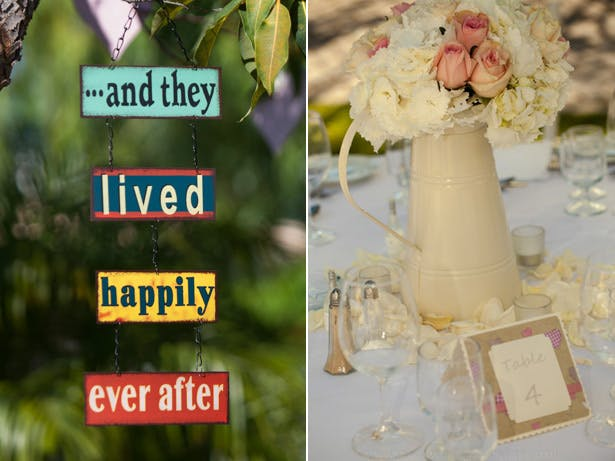 """""""and they lived happily ever after"""" sign from the tree"""