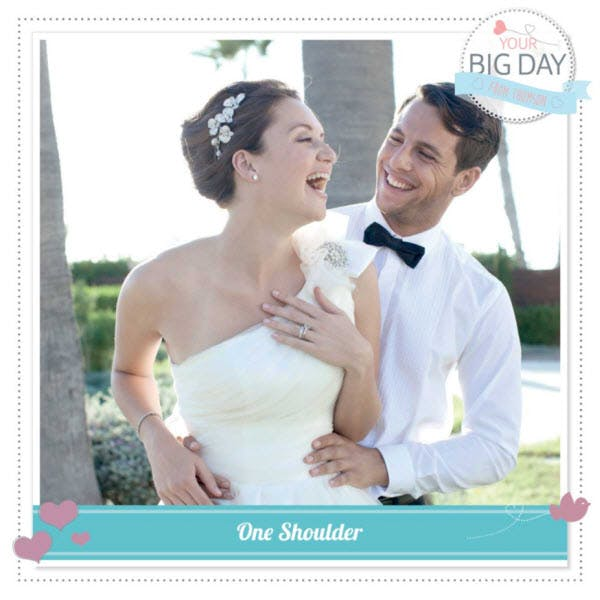 Thomson's #YourBigDay - One Shoulder Style