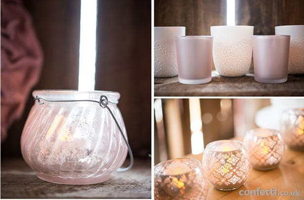 Rustic, vintage themed candle tea light holders | Confetti.co.uk