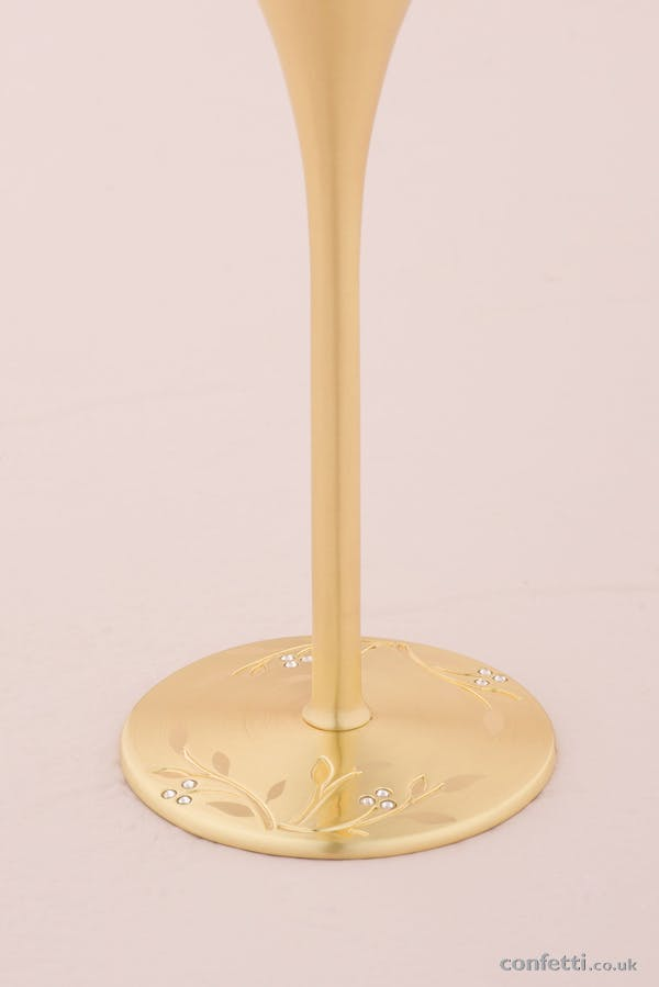 Venice Gold Toasting Wedding Flutes