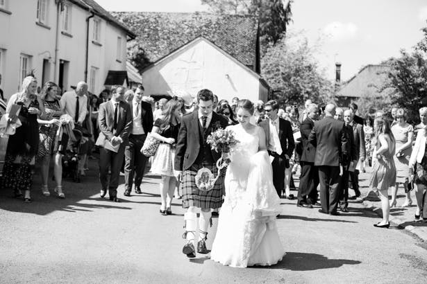 Black and white picture of the newlyweds | Confetti.co.uk