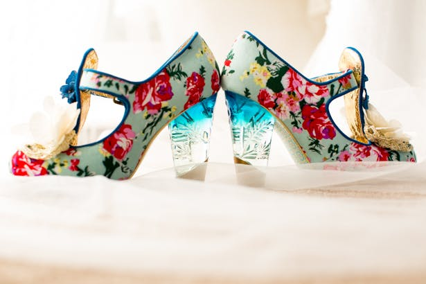 Floral wedding shoes from  Irregular Choice |Confetti.co.uk