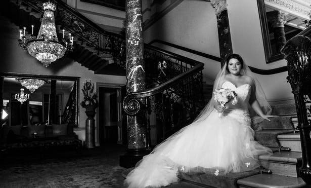 Bride and the Grand Staircase