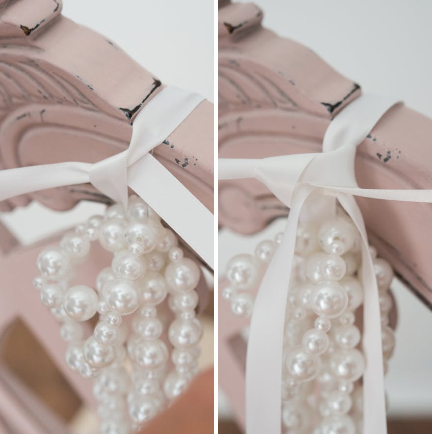 Pearls Chair Decoration with Ribbon | Confetti.co.uk