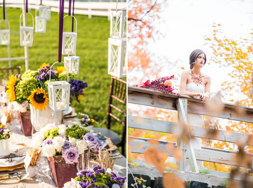 Seasonal Wedding Decor Summer and Autumn Wedding | Confetti.co.uk